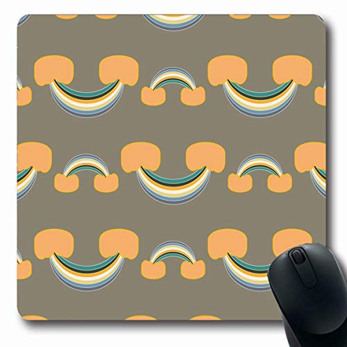 Ahawoso Mousepads for Computers Circle Amazing Rainbow Abstract Bright Scots Canvas Chevron Color Design Drawn Oblong Shape 7.9 x 9.5 Inches Non-Slip Oblong Gaming Mouse Pad
