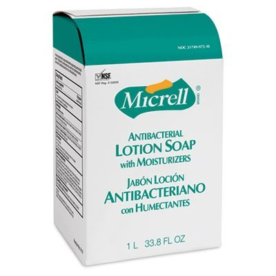 MICRELL NXT Antibacterial Lotion Soap Refill, Light Scent, 1000mL, 8/Carton, Sold as 1 Carton by Gojo