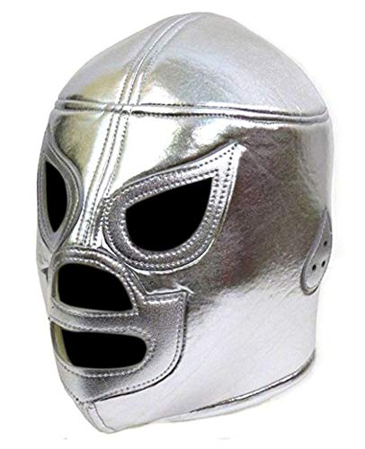 Del Mex Lycra Lucha Libre Adult Luchador Mexican Wrestling Mask Costume (El Santo) -