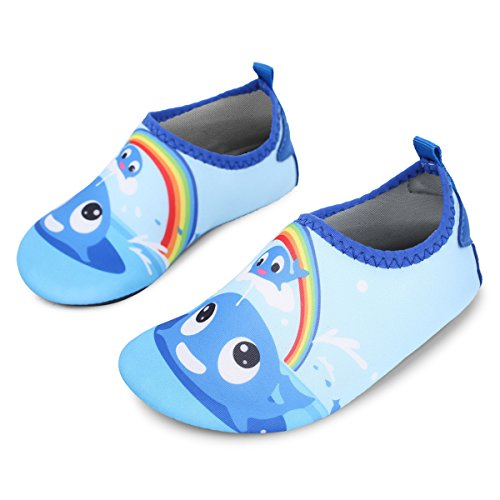 35980d661 JIASUQI Kids Boys Girls Summer Athletic Water Shoes Aqua Socks Beach  Swimming Pool