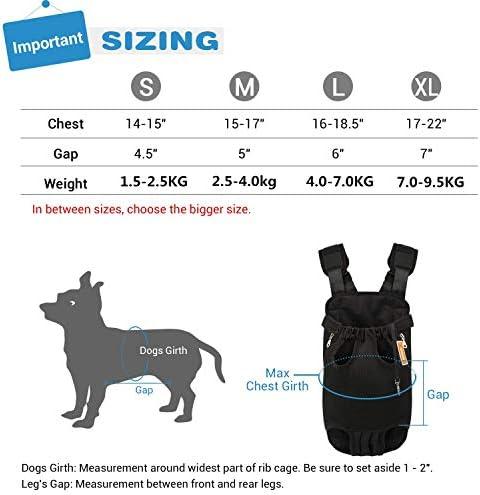 PUBAMALL Mochila Porta Mascotas, Ajustables Mochila Porta Mascotas, para Caminar, Viajar, IR de excursión, Acampar (XL, Negro) 4