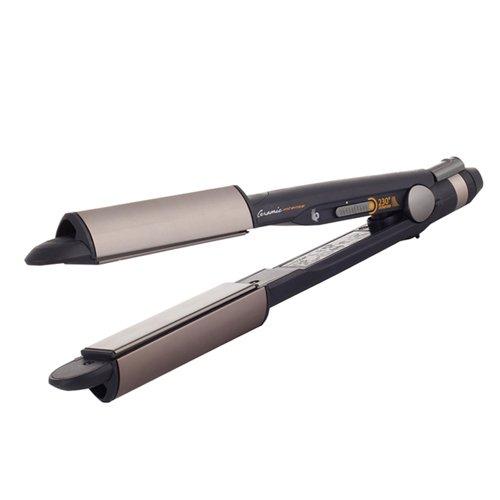 BaByliss iPro 230 iCurl - Alisador y rizador de pelo profesional con recurbimiento de ceramica, temperatura 180 o 230ºC ST270E CERÁMICA PLANCHA PLANCHA ALISA Y RIZA
