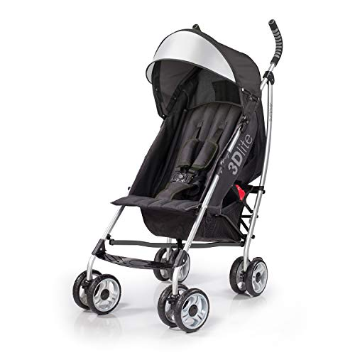 Summer Infant 3D Lite Convenience Stroller - Black - Flip Tray Seat