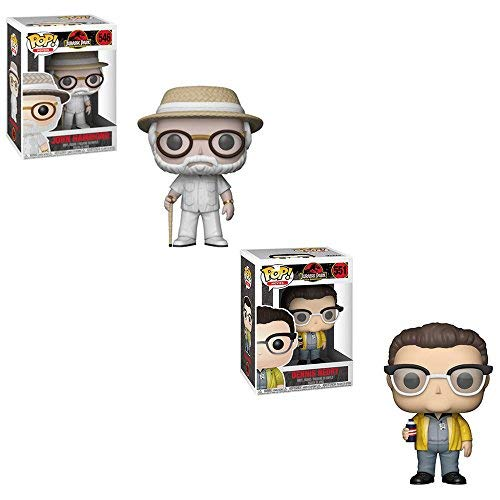 Funko POP! Movies Jurassic Park 25th Anniversary Edition: John Hammond and Dennis Nedry Toy Action Figure - 2 POP BUNDLE -
