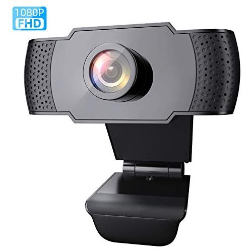 chollos oferta descuentos barato Wansview Cámara web 1080P con micrófono para PC portátil y ordenador de escritorio USB 2 0 cámara web Full HD para videollamadas estudiar conferencias grabar jugar con clip giratorio