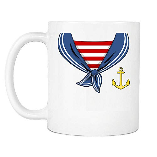 Sailor Costume Halloween For Sailman Captain Boat Boys Son Dad Men Gift White Ceramic Coffee Tea Milk Hot Chocolate Mug Cup 11oz]()