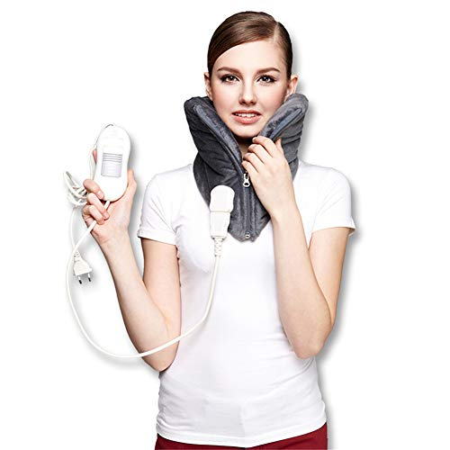 Latest Shoulder Cold Therapy System Portable Electric Neck Heating Pad,Heat Therapy Neck Brace,Keep Warm,Pain Fatigue Relieve, Improve Blood Circulatio,Fast-Heating and 3 Heat Settings 2019