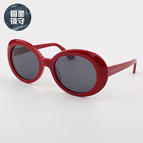 VVIIYJ Cara de larga red Hombre sol Gafas Polarizer sol de Rojo Mujer Oval Gafas Negro Blanco rAqrH