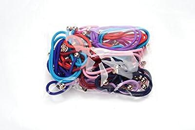 Ginasy 20x Cute Women's Dot Rabbit Ear Hair Bow Tie Bands Chiffon Ponytail Holder Hot