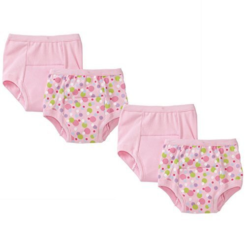 i play. Green Sprouts Baby Girls Training Underwear Bundle: 2 Items - Two, 2 Packs - 24M, Pink Dots