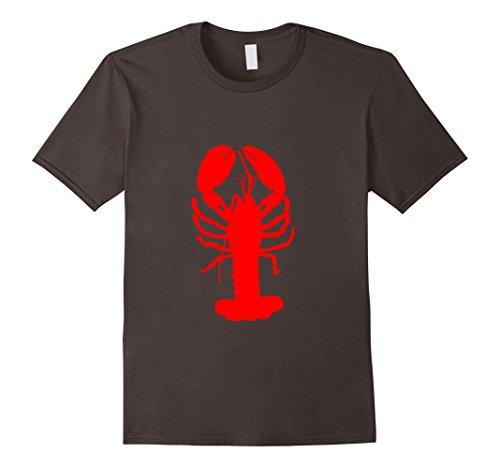 Mens Lobster Shellfish Seafood T-Shirt Large Asphalt
