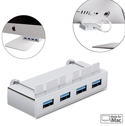 USB 3.0 HUB, Cateck Premium 4-Port USB 3.0 Hub with 2-Foot USB 3.0 Cable Exclusively Designed For iMac Slim Unibody Best Firewire External Hard Drive