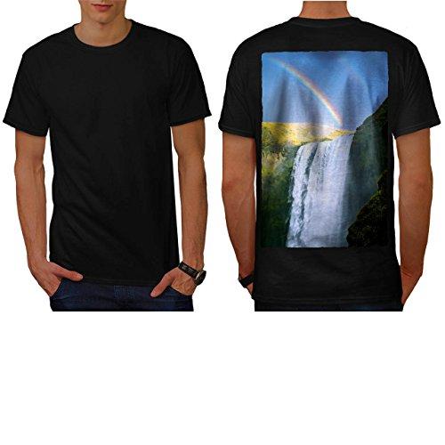 Waterfall Rainbow Nature Beauty Men NEW L T-shirt Back | Wellcoda
