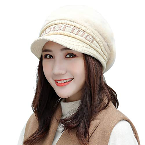 Lookatool LLC Women Bowknot Knitted Hat Winter Warm Beret Baggy Beanie Hat Slouch Ski Cap ()
