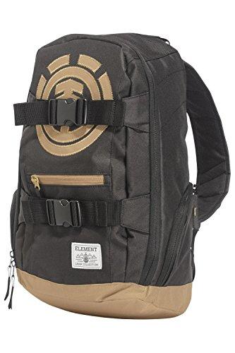 Element Mohave Rucksack, perfekter Tagesrucksack Schulrucksack aufgrund 30 L Volumen, optimaler Tragekomfort durch geplosterten Rücken und ergonomischen Tragegurten Größe: One Size, Farbe Black