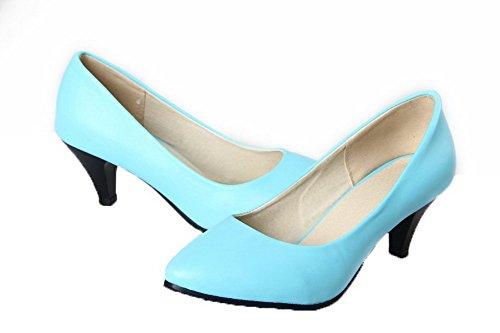 Tirare Chiusa 35 Luccichio Donna Puro Azzurro Ballet Moolarmi Tacco Punta Flats Medio wx0Zp664Xq