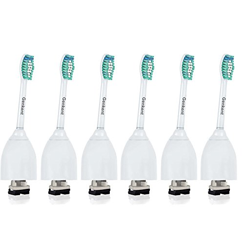 Price comparison product image Genkent Replacement Toothbrush Heads for Philips Sonicare e-Series Electric Toothbrush,6 Pack,fits Sonicare Advance, CleanCare, Elite, Essence and Xtreme Brush Handles