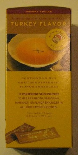 Savory Creations, Turkey Broth Concentrate, 4.2 Ounce Pack (12 Stick Pouches)