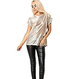 Women's Ladies Gorgeous Glam Metallic Top