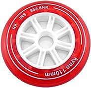 8 Pcs Translucent Inline Skate Wheel 86A PU Wheel for Downhill Skating 90mm 100mm 110mm Speed Skating Wheel fo
