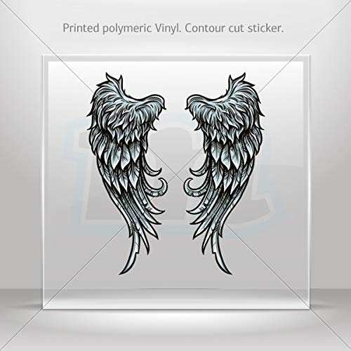 - Decal Stickers Pear of Wings Decoration Motorbike Bicycle Vehicle ATV (8 X 3.21 Inches)
