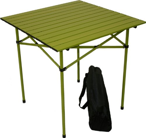 Table in a Bag TA2727G Tall Aluminum Portable Table with Carrying Bag, Green