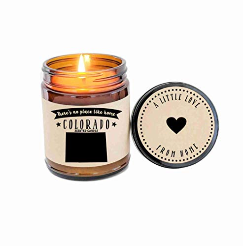 (Colorado Scented Candle Missing Home Homesick Gift Moving Gift New Home No Place Like Home State Candle Thinking of You Valentines Day)