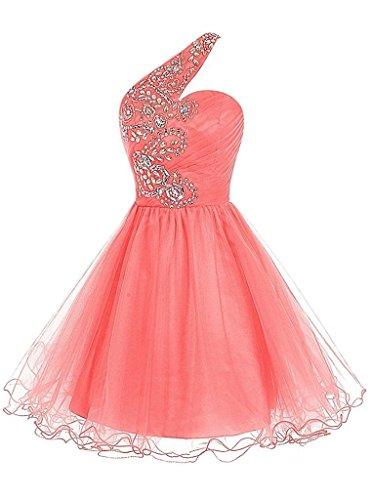 ivyd ressing Femme col V à spaghetti A ligne mousseline & dentelle Prom robe longue Lave-vaisselle robe robe du soir -  Rose - 36