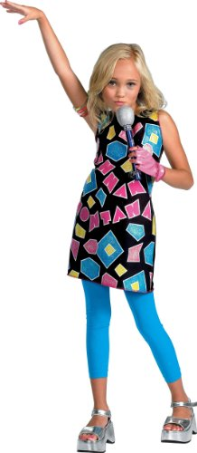Hannah Montana Geometric Shapes Costume Dress Size 4-6X by Disguise (Halloween Hannah Montana Games)
