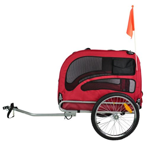 Best Price of Orignial Doggyhut Large Pet Bike Trailer Dog Bicycle Carrier Red 6030201