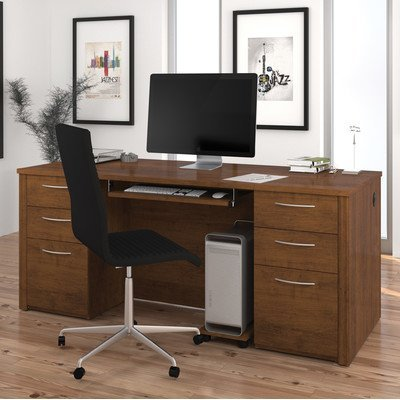 Brown Tuscany Executive Desk - 71 in. Executive Desk in Tuscany Brown