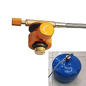 Leezo - Adaptador para Quemador de Estufa de Campamento de Tipo Dividido para Horno, Cartucho
