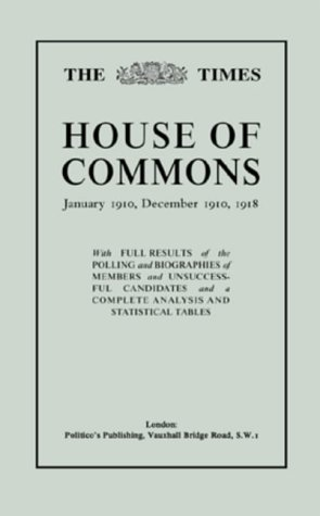 Download The Times House of Commons Guide: January 1910, December 1910 and 1918 (v. 2) ebook