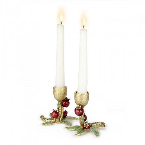 Pomegranate Candlesticks - Petite Pomegranate Candlestick Set