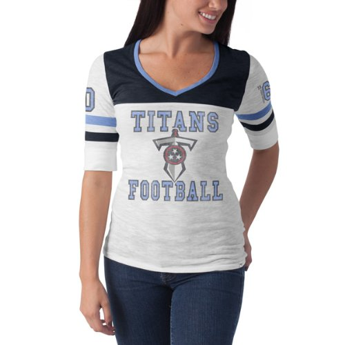 NFL Tennessee Titans Women 's Debut Tee Small ホワイトウォッシュ ド B00AMDPVYK