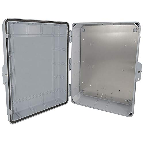 Altelix NEMA Enclosure 14 x 9 x 4.5 Inside Space Polycarbonate + ABS Weatherproof with Aluminum Equipment Mounting Plate