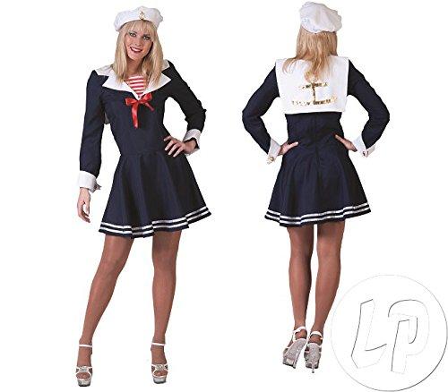 Funny Fashion Costume da marinaio Anna abito da marinaio marinaio marina militare (44 46)