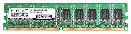 (1GB RAM Memory for Lenovo ThinkServer RS110 6438 240pin PC2-6400 DDR2 UDIMM 800MHz Black Diamond Memory Module Upgrade)