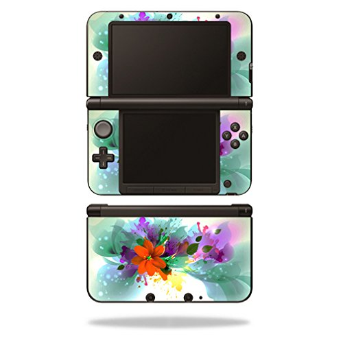 MightySkins Protective Vinyl Skin Decal Cover for Nintendo 3DS XL Original (2012-2014 Models) Sticker Wrap Skins Flower Blast