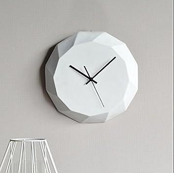YHEGV Reloj de Pared Industrial, Decorativo Reloj de Pared Simple Moda Relojes Nórdico de Resina