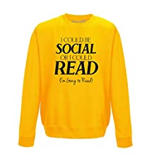 Brand88 - I Could Be Social Or I Could Read, Adults Sweatshirt