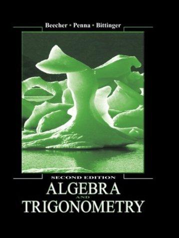 Algebra and Trigonometry (2nd Edition)