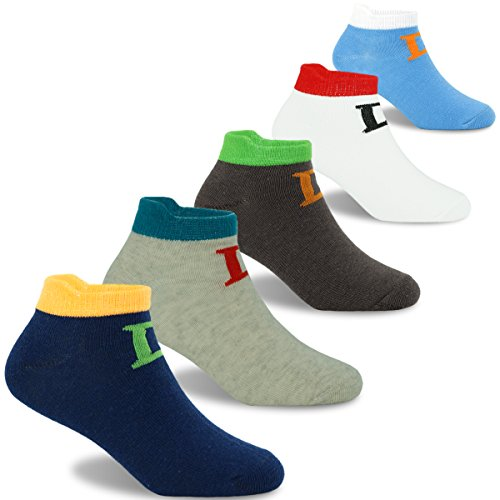 Boys Cotton Socks Kids Summer Breathable Short Socks 5 Pack 6-8 Years by SINOLY