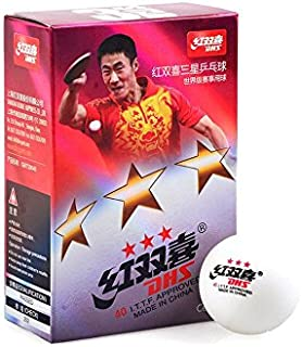 DHS 3 STAR ITTF 40 mm Celluloid original Table Tennis Balls, 18 pieces Shanghai Double Happiness