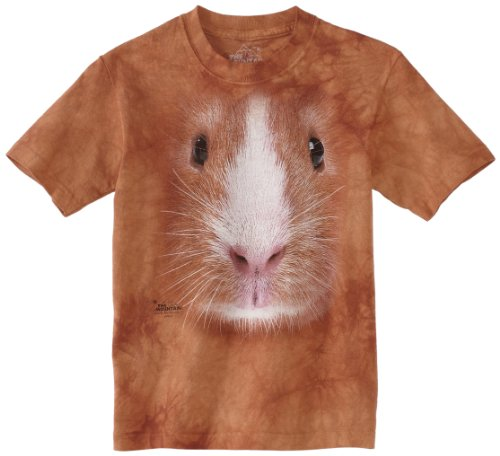 The Mountain Little Boys' Youth Guinea Pig Face Shirt, Brown, Medium (Pig Face)