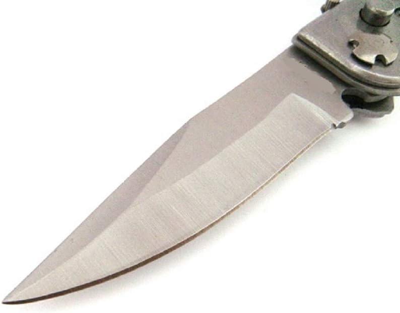 1 2 3 4 5 6 7 8 9 10 11   Klappmesser  Silber Braun Einhandmesser Taschenmesser