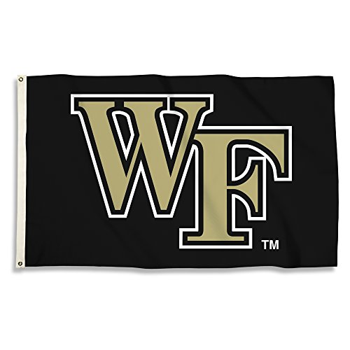 BSI NCAA Wake Forest Demon Deacons Flag with Grommets, Gold, 3' x 5'