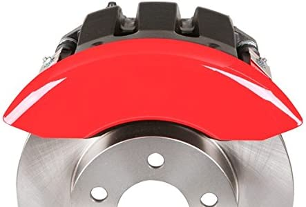 MGP Caliper Covers 37003SMGPRD MGP Engraved Caliper Cover with Red Powder Coat Finish and Silver Characters, Set of 4