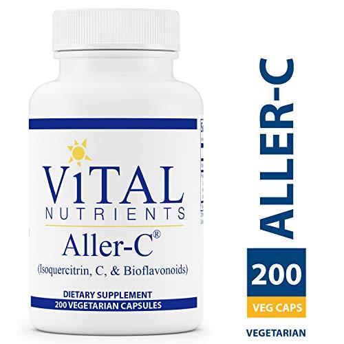 Vital Nutrients - Aller-C (Isoquercitrin, C, and Bioflavonoids) - Respiratory & Sinus Support - Gluten Free - 200 Vegetarian Capsules per Bottle (Vitamin Vital C)