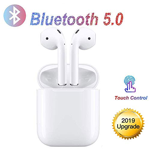 Bluetooth Headphones,Bluetooth 5.0 Wireless Earbuds, 3D Stereo 24H Playtime Wireless Sports Headset, IPX5 Waterproof, Pop-ups Auto Pairing for Apple Airpods Android/iPhone Samsung (2019NewEarbuds)